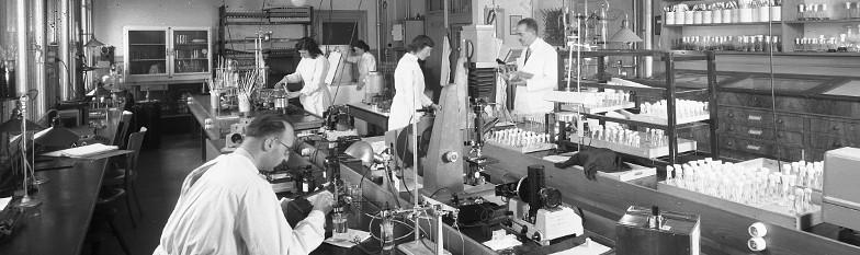 Lab of Prof. William Henry Schopfer in  1956